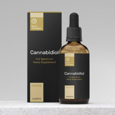 Buy CBD Oil Full Spectrum 6,000mg, CBD Extract in Black Seed Oil, 2oz/60ml