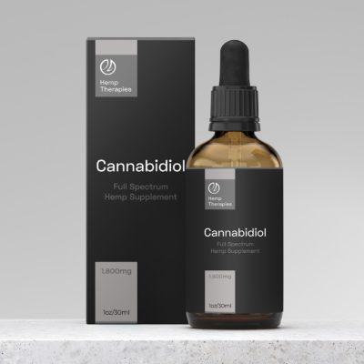 Buy CBD Oil Full Spectrum 1,800mg, CBD Extract in Black Seed Oil, 1oz/30ml